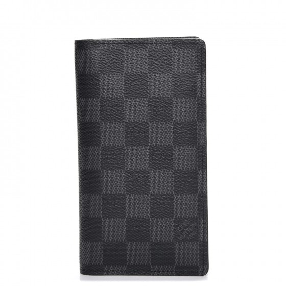 Louis Vuitton Agenda Cover Pocket Damier Graphite Black