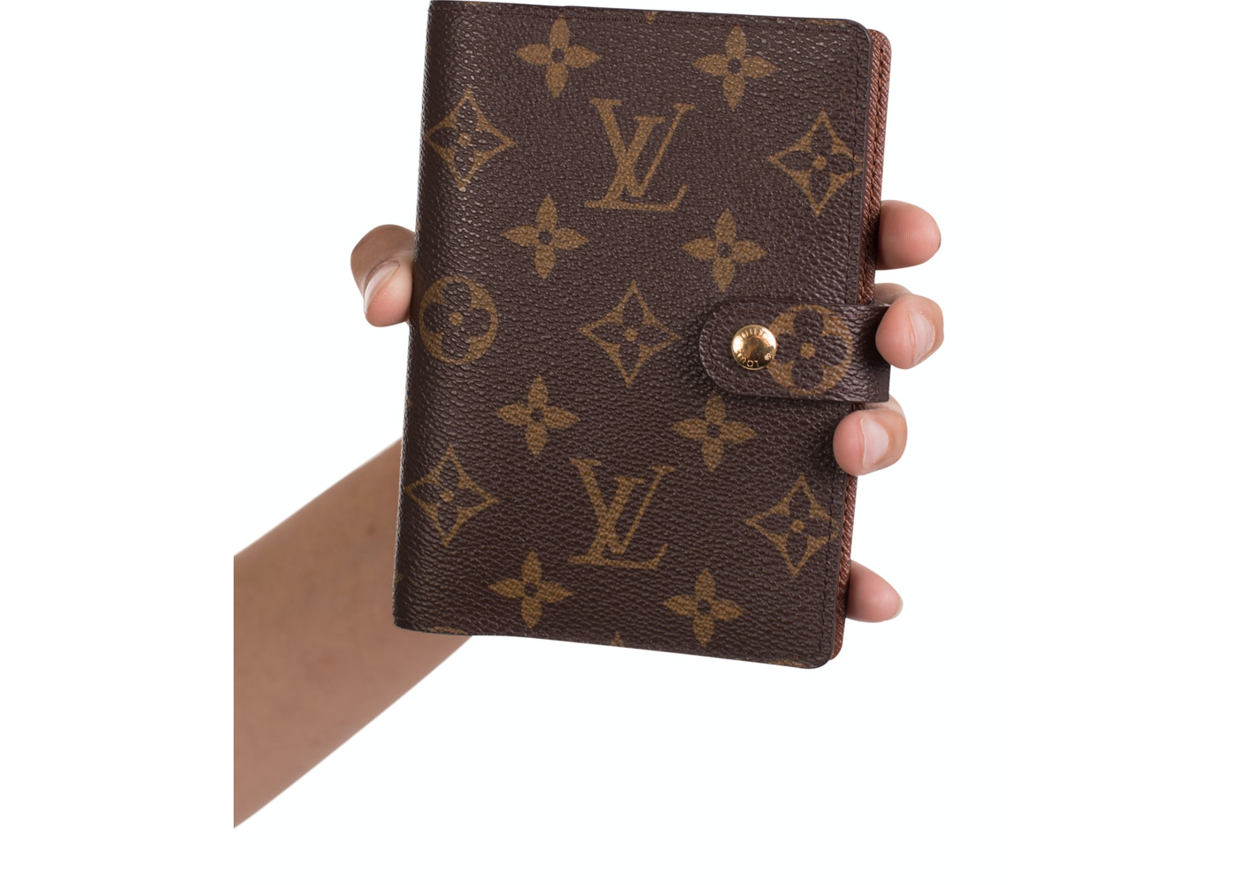 10a9f22131bd Louis Vuitton Agenda Cover Small Ring Monogram Brown