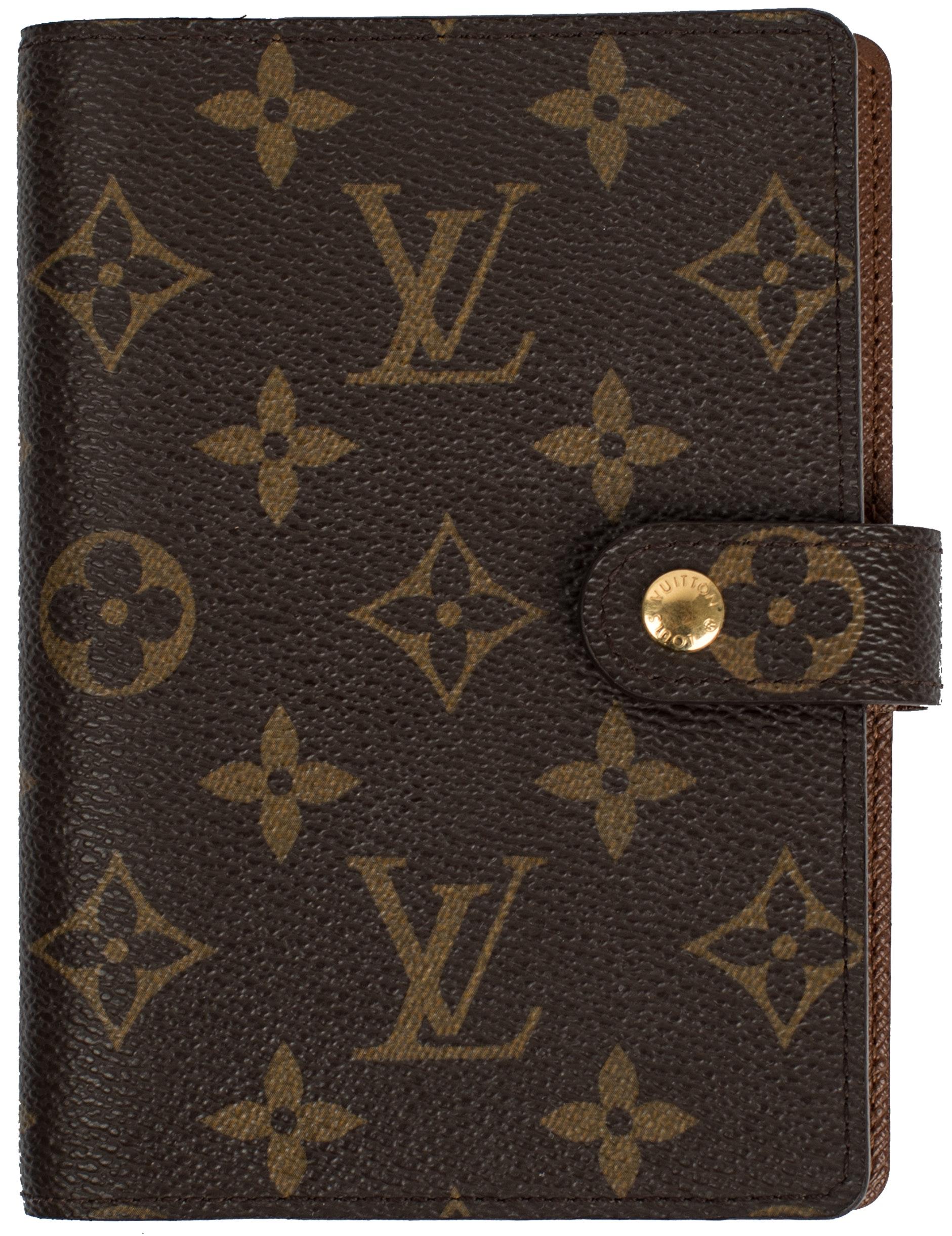 Louis Vuitton Agenda Cover Small Ring Monogram Brown