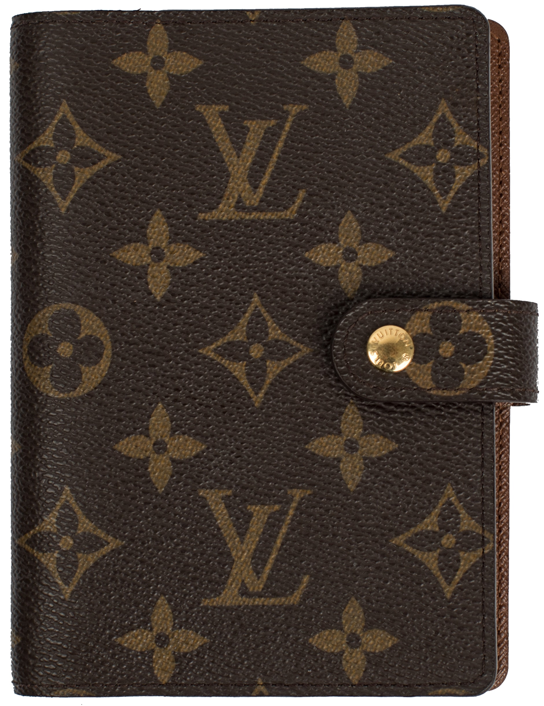 Louis Vuitton Agenda Cover Small Ring Monogram Brown