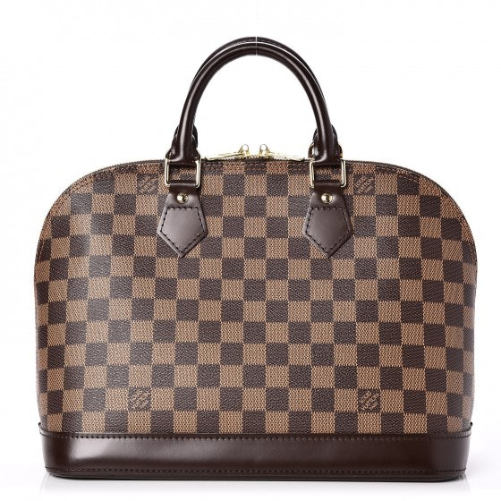 Louis Vuitton Alma Damier Ebene Without Accessories PM Brown
