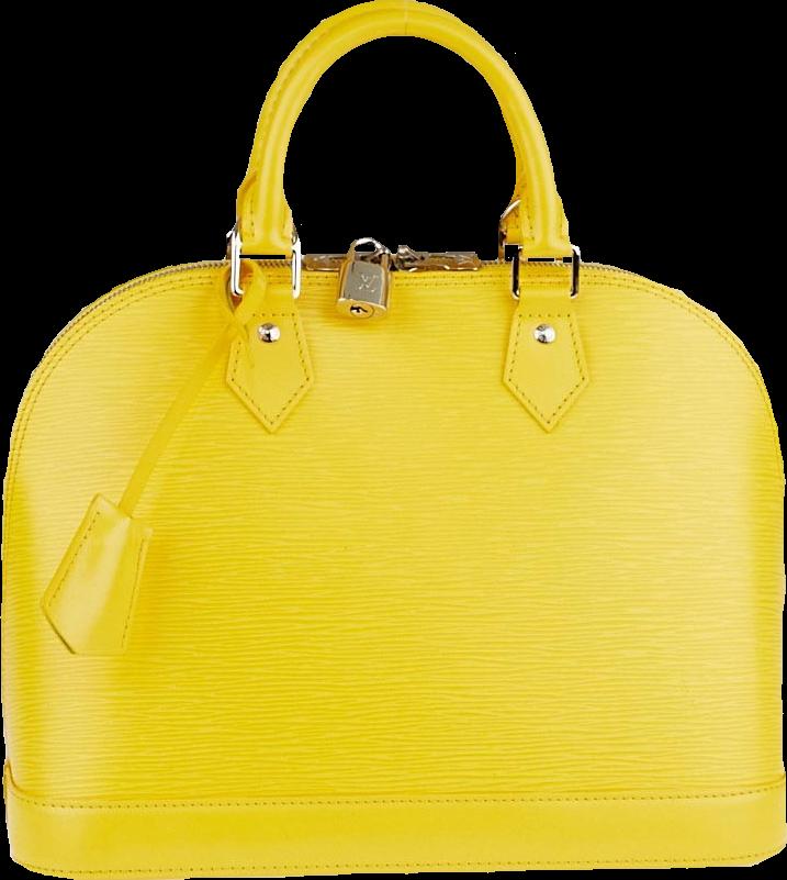 Louis Vuitton Alma Epi PM Citron