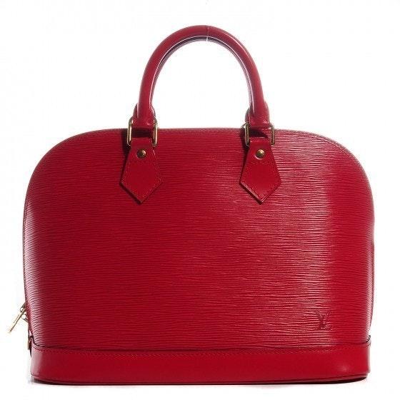 Louis Vuitton Alma Epi PM Red