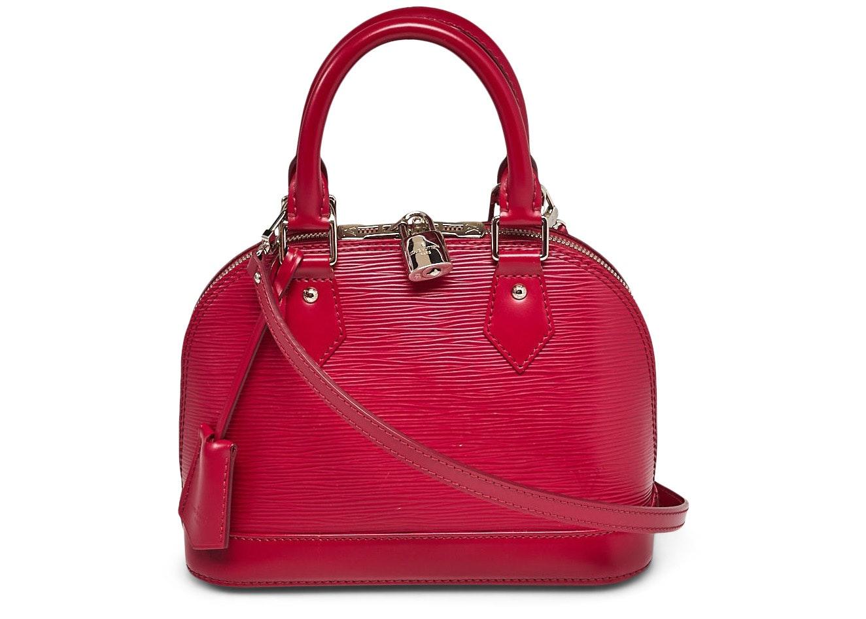 Louis Vuitton Alma Epi With Accessories BB Fuchsia