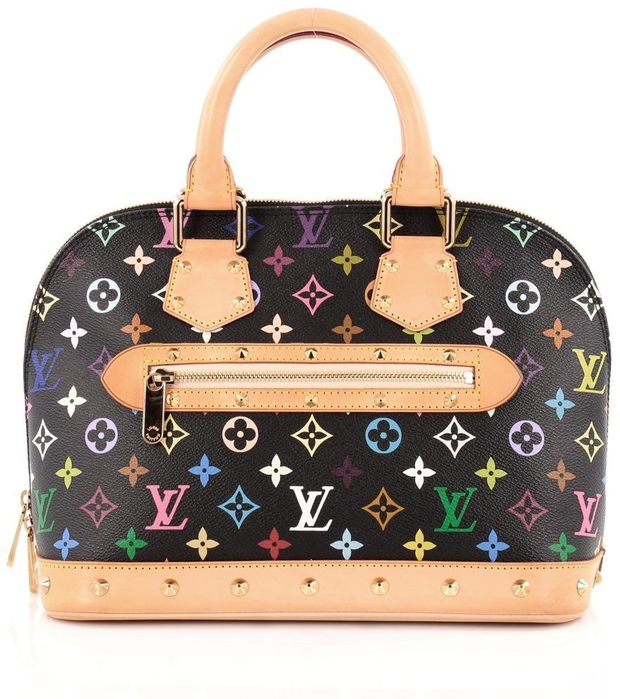 Louis Vuitton Alma Monogram Multicolore PM Black