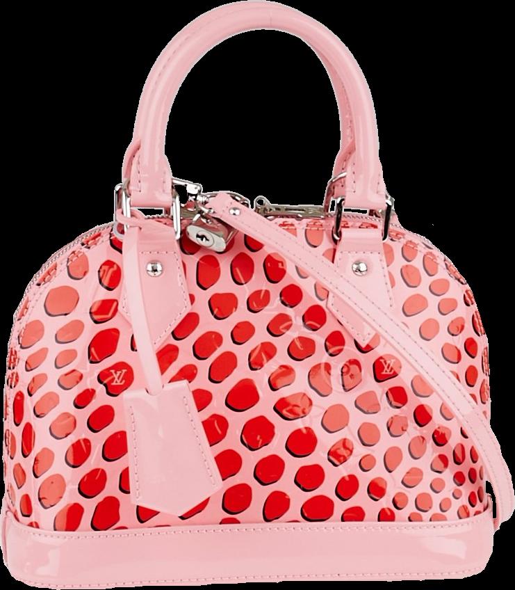 Louis Vuitton Alma Monogram Vernis Jungle BB Pink