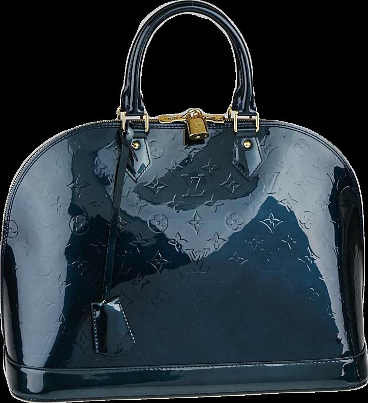 Louis Vuitton Alma Monogram Vernis GM Bleu Nuit