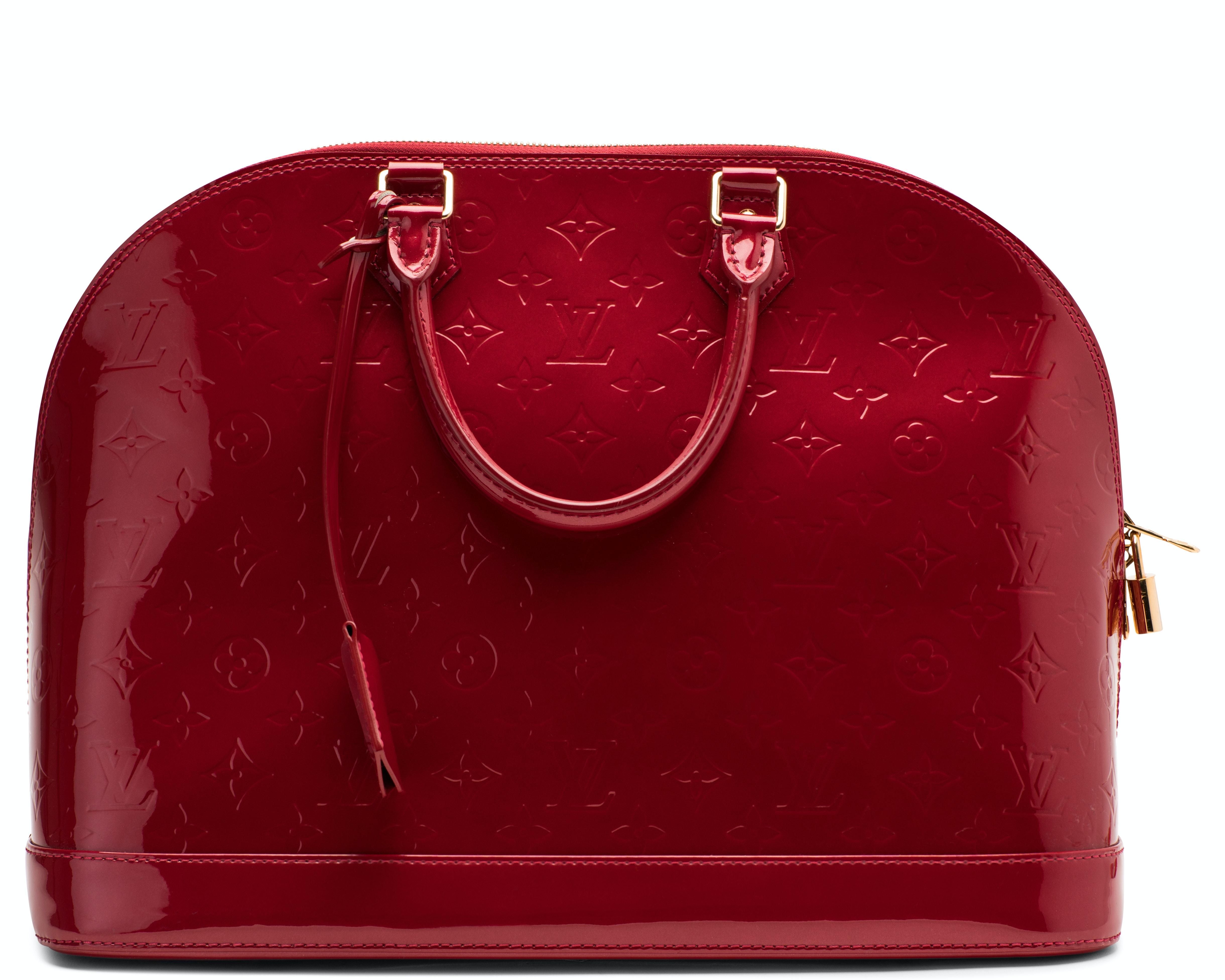 Louis Vuitton Alma Monogram Vernis GM Pomme-D'Amour