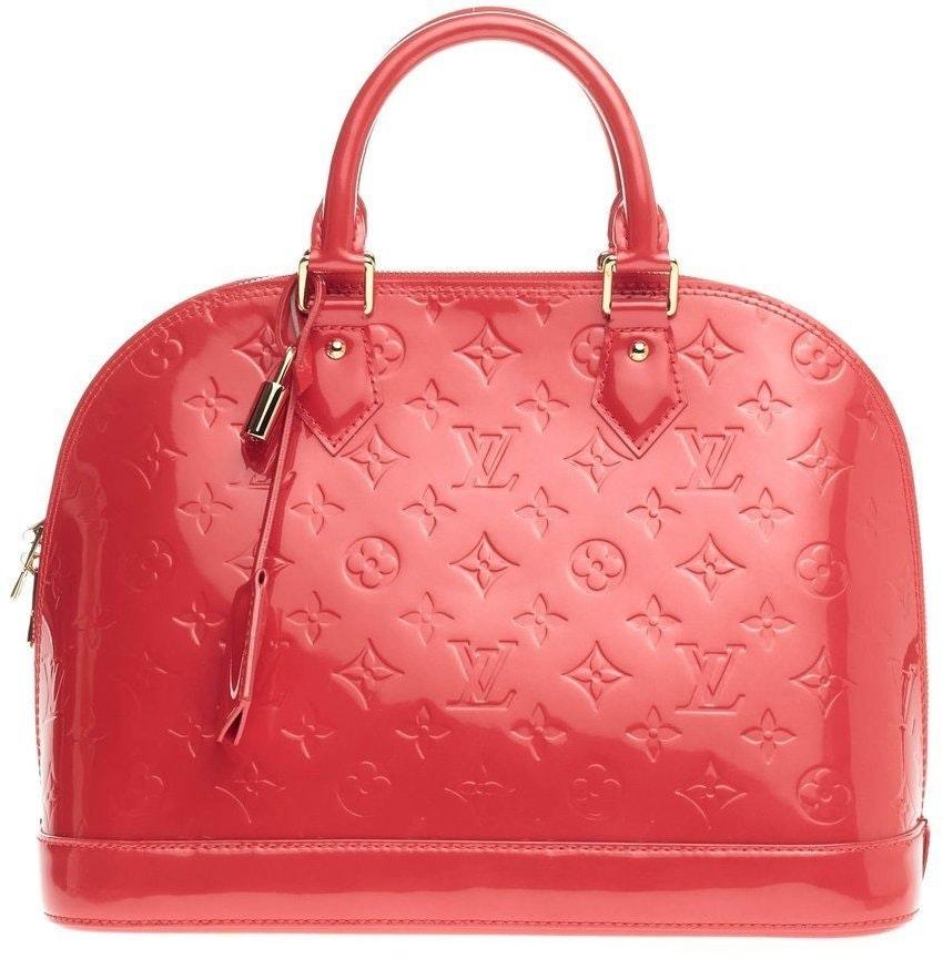 Louis Vuitton Alma Monogram Vernis PM Rouge Grenadine