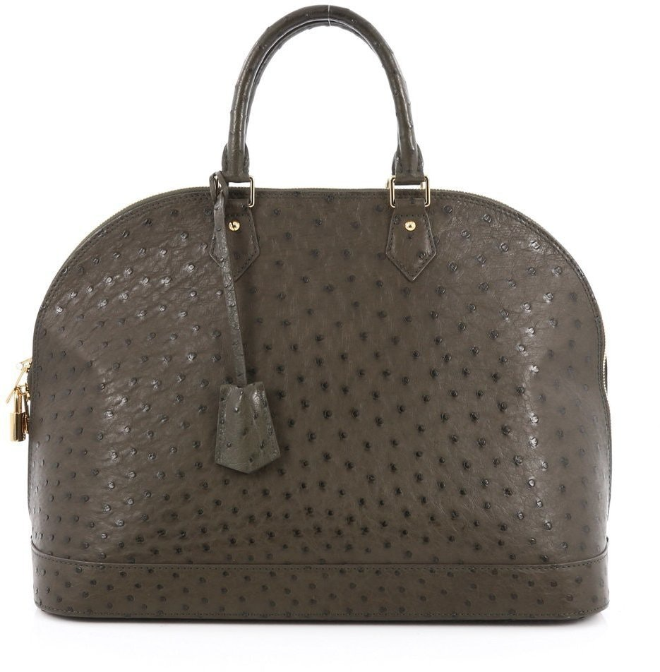 Louis Vuitton Alma Ostrich Skin GM Green