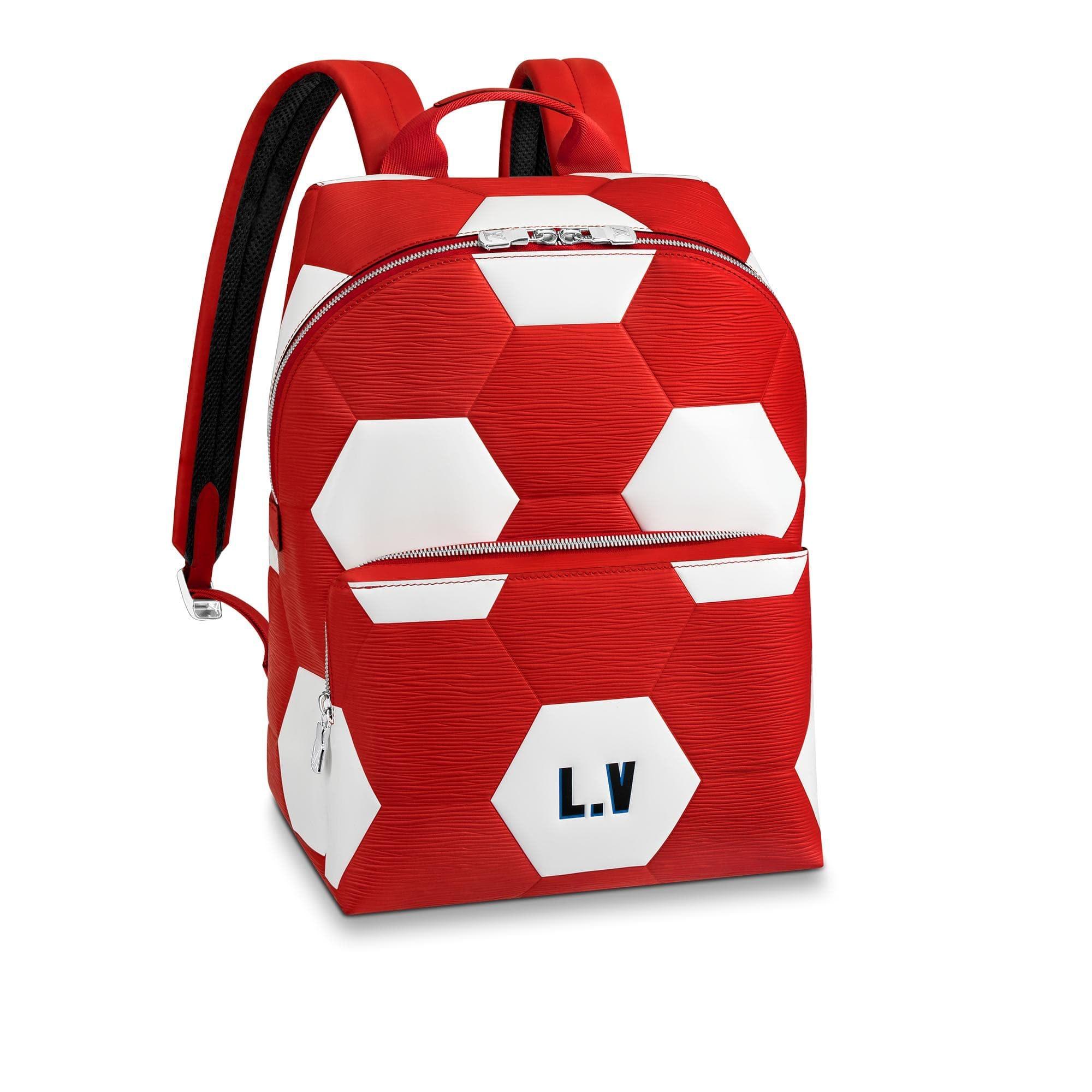 Louis Vuitton Apollo Backpack Hexagonal FIFA World Cup Rouge
