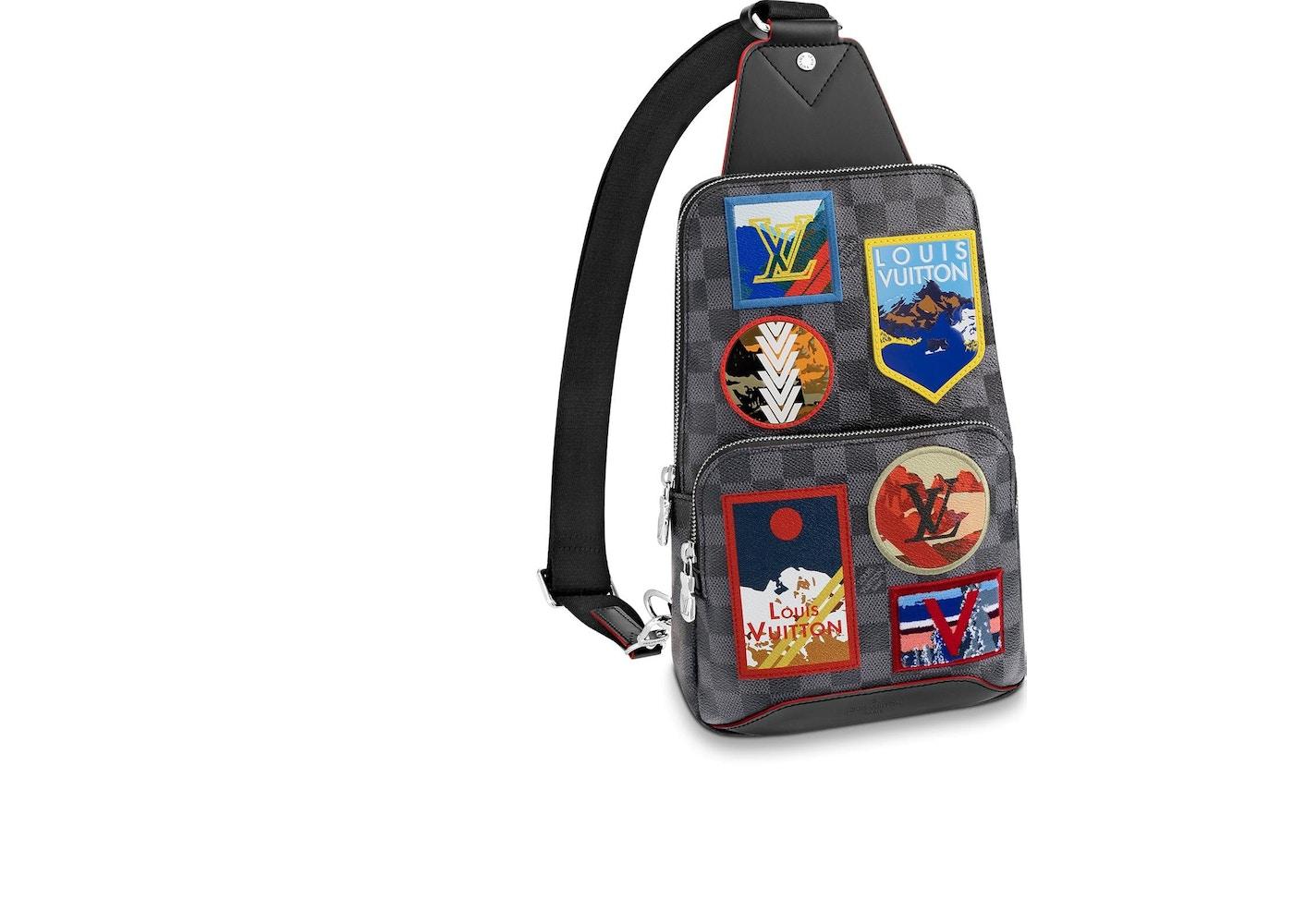 Louis Vuitton Avenue Sling Bag Damier Alps Graphite. Damier Alps Graphite 93136e9c56508
