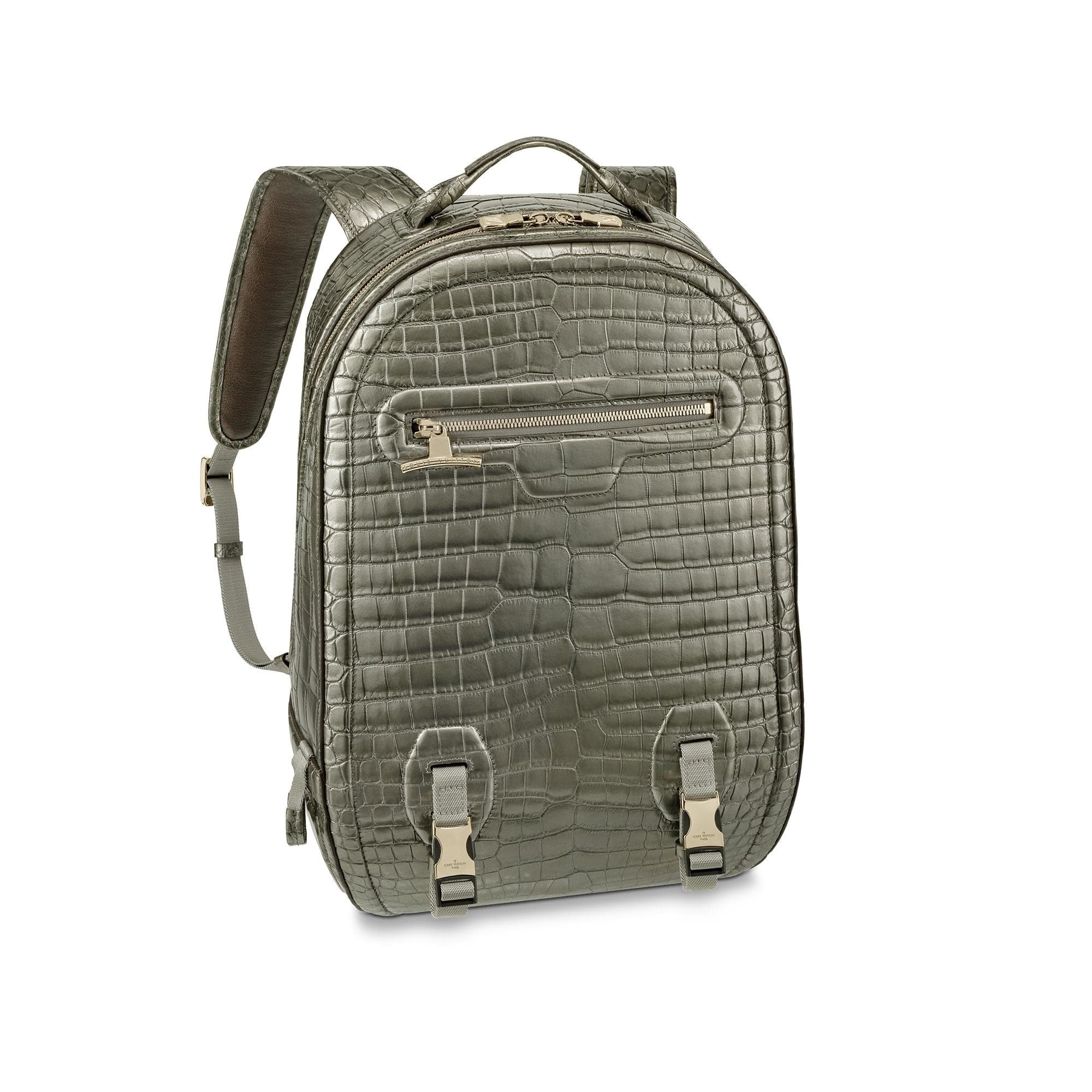 Louis Vuitton Backpack Alligator GM Titanium Gray