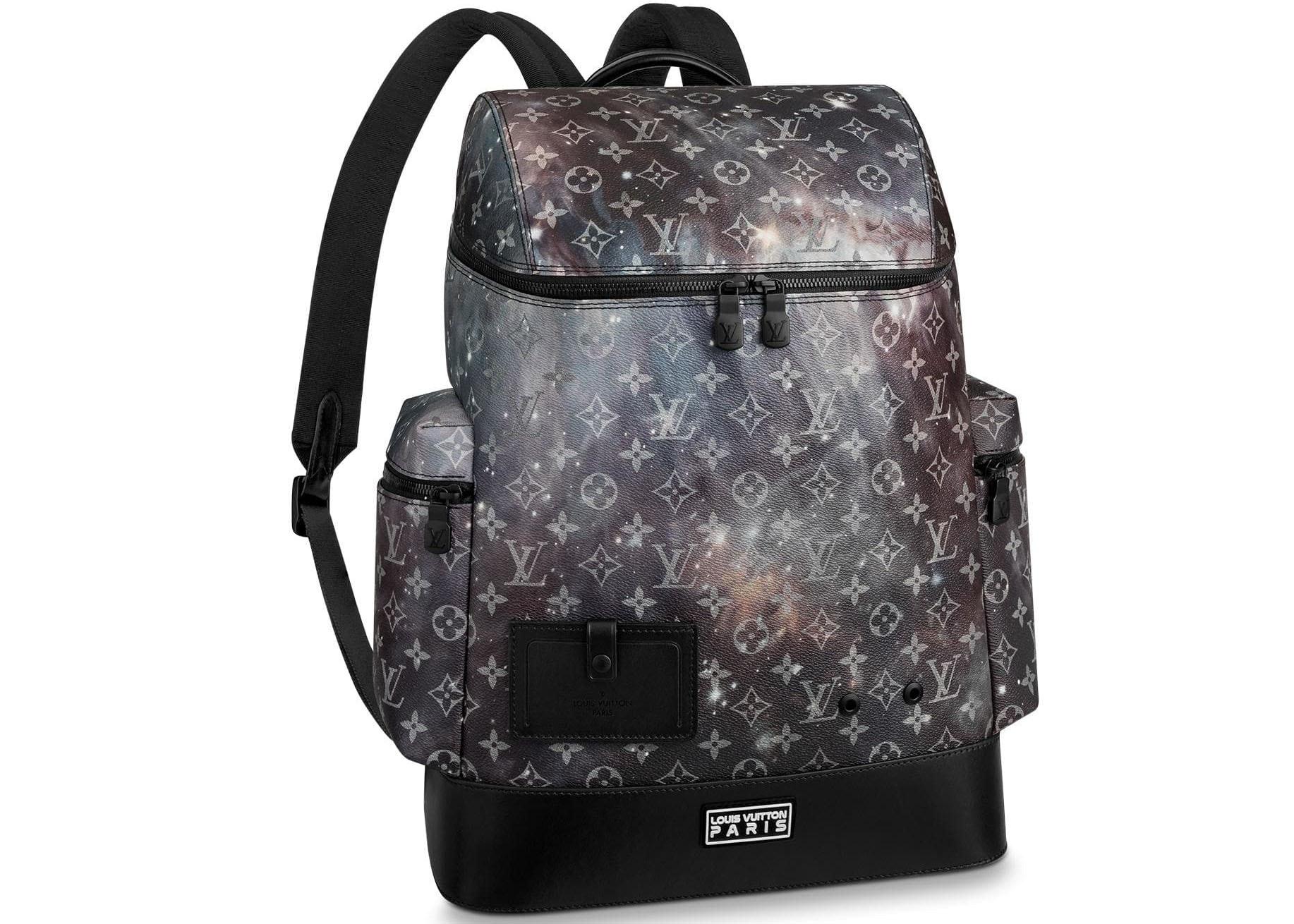 Louis Vuitton Backpack Alpha Monogram Galaxy Black Multicolor