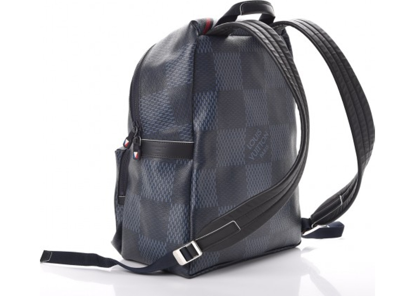 d4af93c50ef6 Louis Vuitton Backpack Apollo Latitude Damier Cobalt America s Cup Printed  Blue Grey White Red