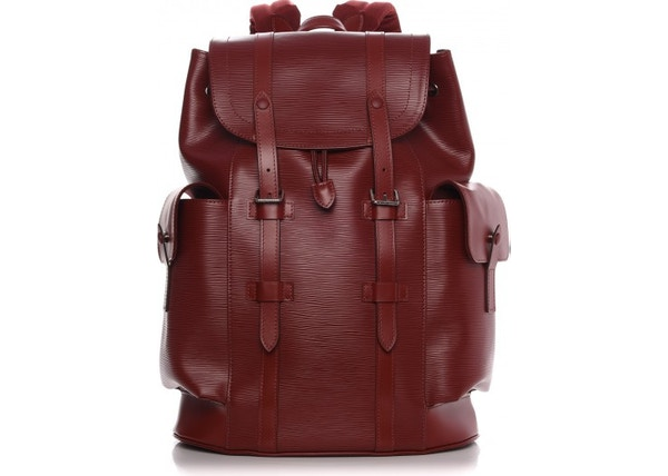 Louis Vuitton Backpack Christopher Epi PM Rouge Pomodoro