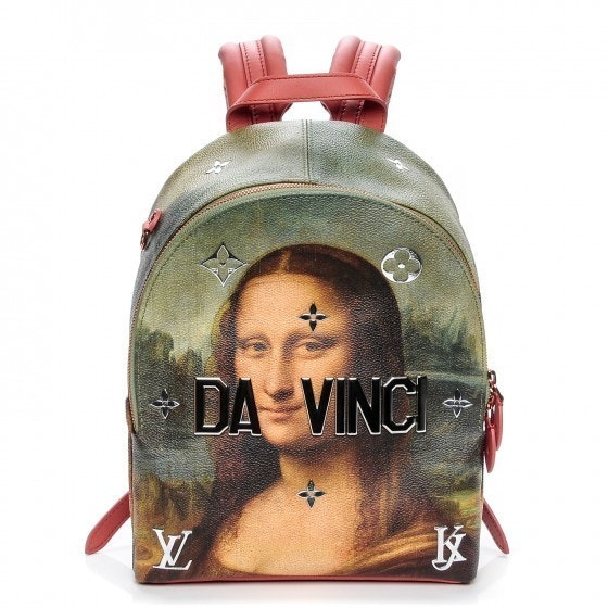 Louis Vuitton Palm Springs Backpack Leonardo da Vinci Masters Jeff Koons Poppy Multicolor