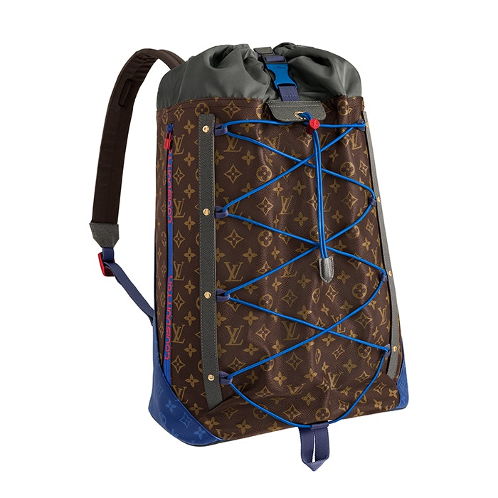 Louis Vuitton Backpack Monogram Outdoor Canvas Brown Multicolor
