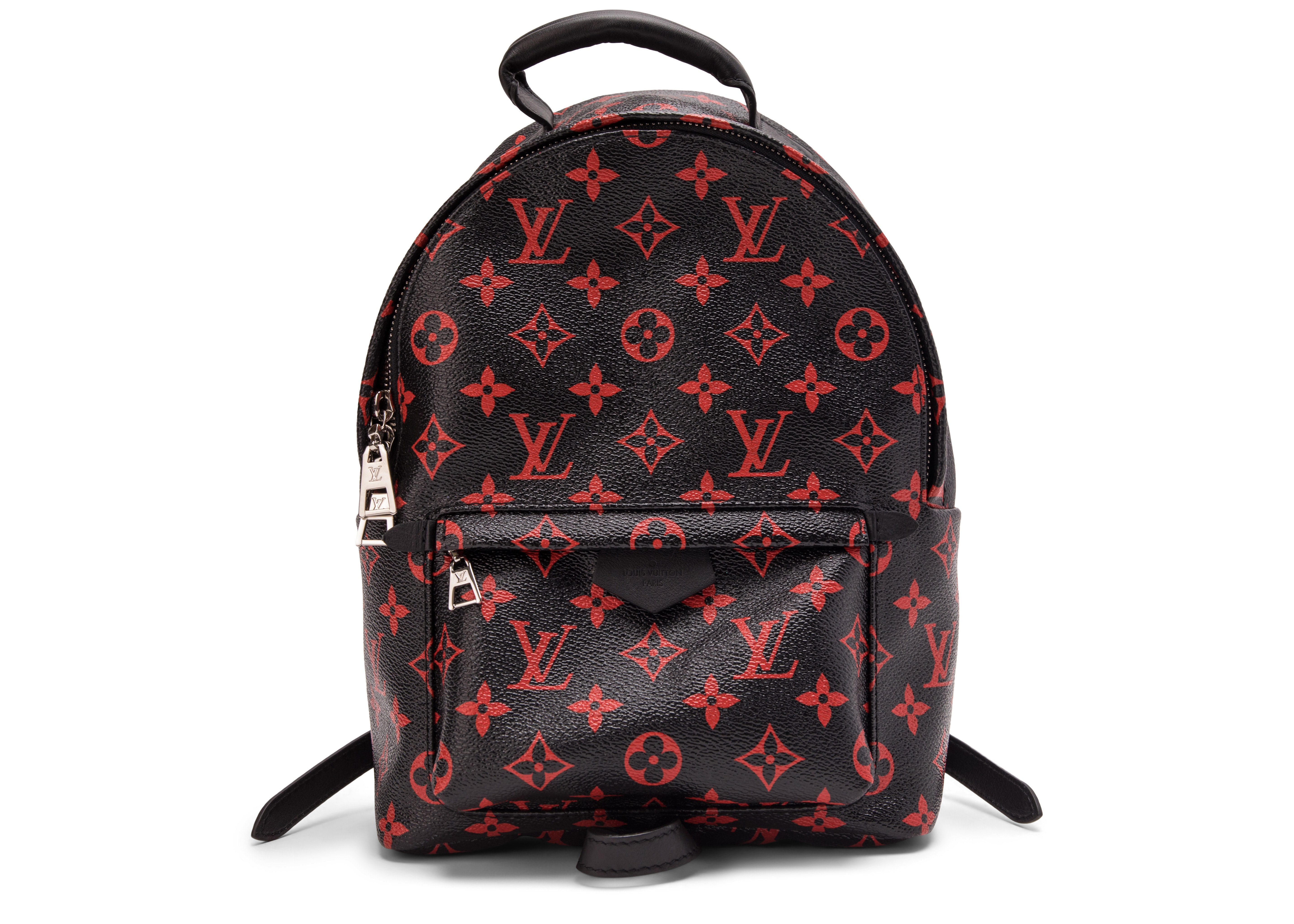Louis Vuitton Backpack Palm Springs Monogram Infrarouge PM Black/Red