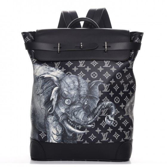 Louis Vuitton Backpack Steamer Monogram Savane Elephant Chapman Encre