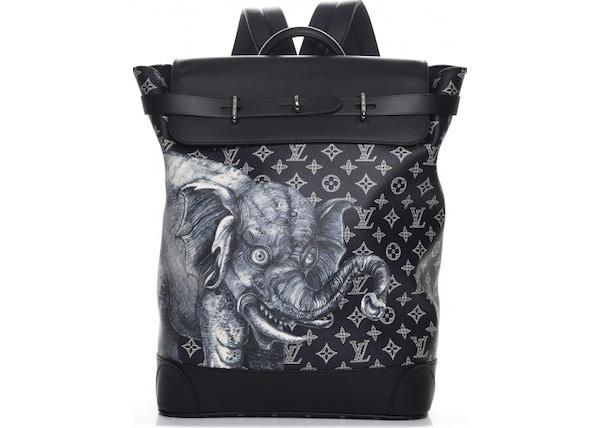8eadf798d0c8 Louis Vuitton Backpack Steamer Monogram Savane Elephant Chapman Encre