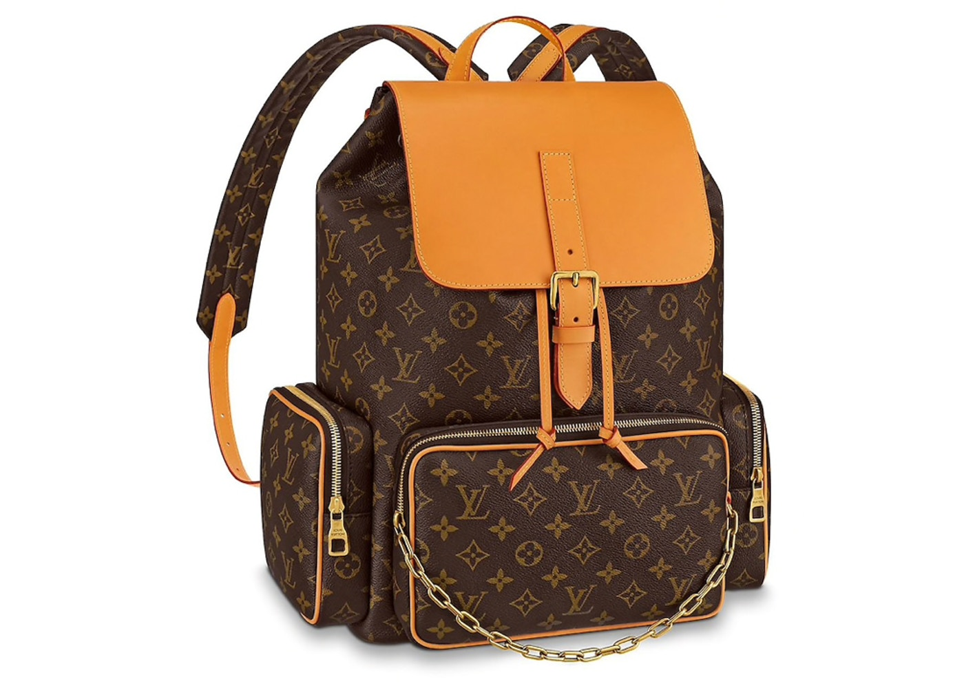 so cheap 50% price classic styles Louis Vuitton Trio Backpack Monogram Brown