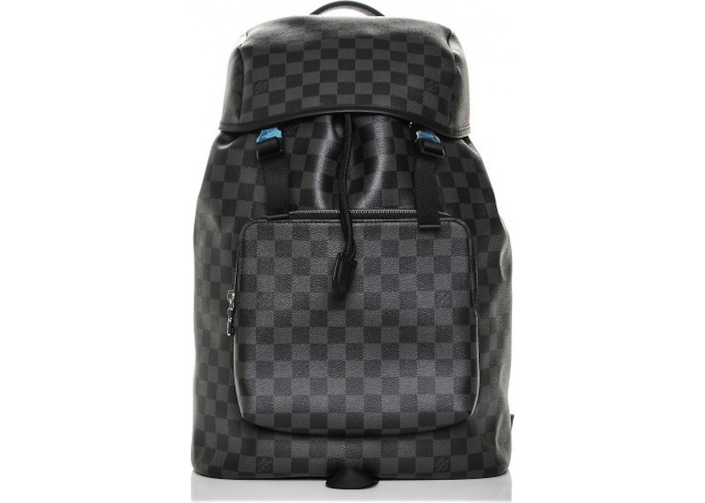 098c82cbceb5 Louis Vuitton Backpack Zack Damier Graphite Black