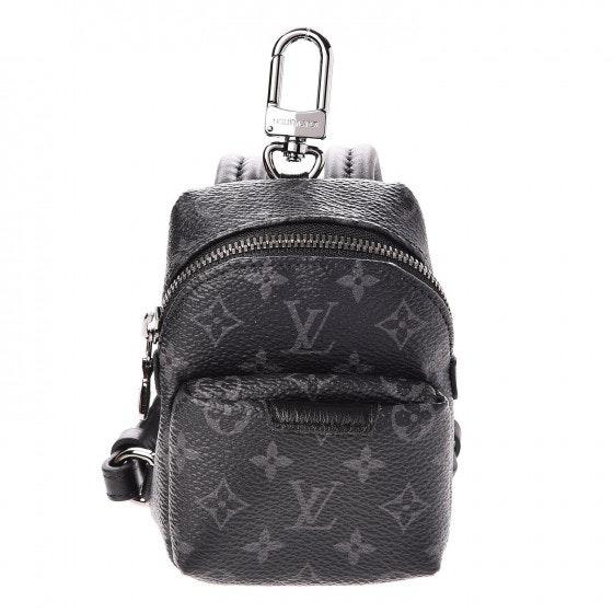 Louis Vuitton Bag Charm Backpack Monogram Eclipse Black/Grey