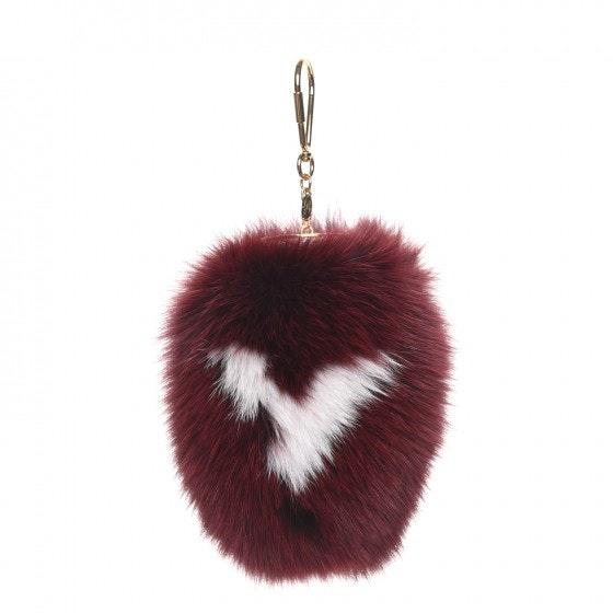 Louis Vuitton Bag Charm Fuzzy V Amarante