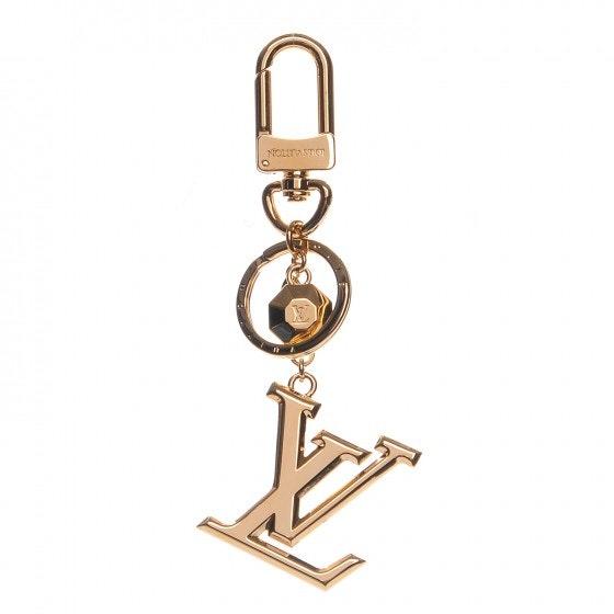 Louis Vuitton Bag Charm Key Holder LV Facettes Gold