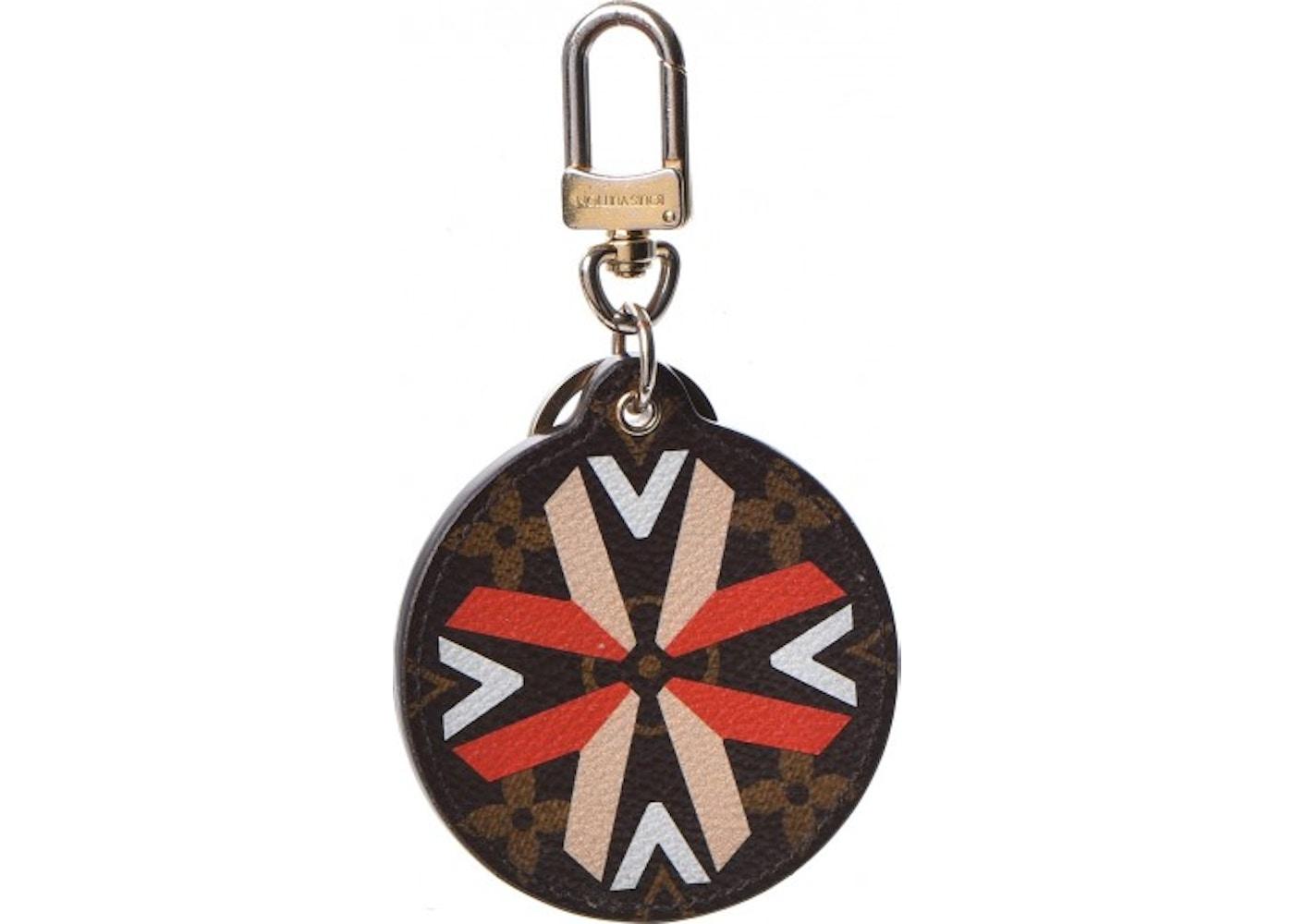 5848ddcc38 Louis Vuitton Bag Charm Key Ring Illustre Multi V Monogram Red ...