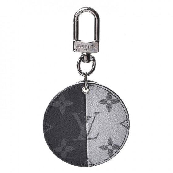 Louis Vuitton Bag Charm Monogram Eclipse Split Black/White/Blue