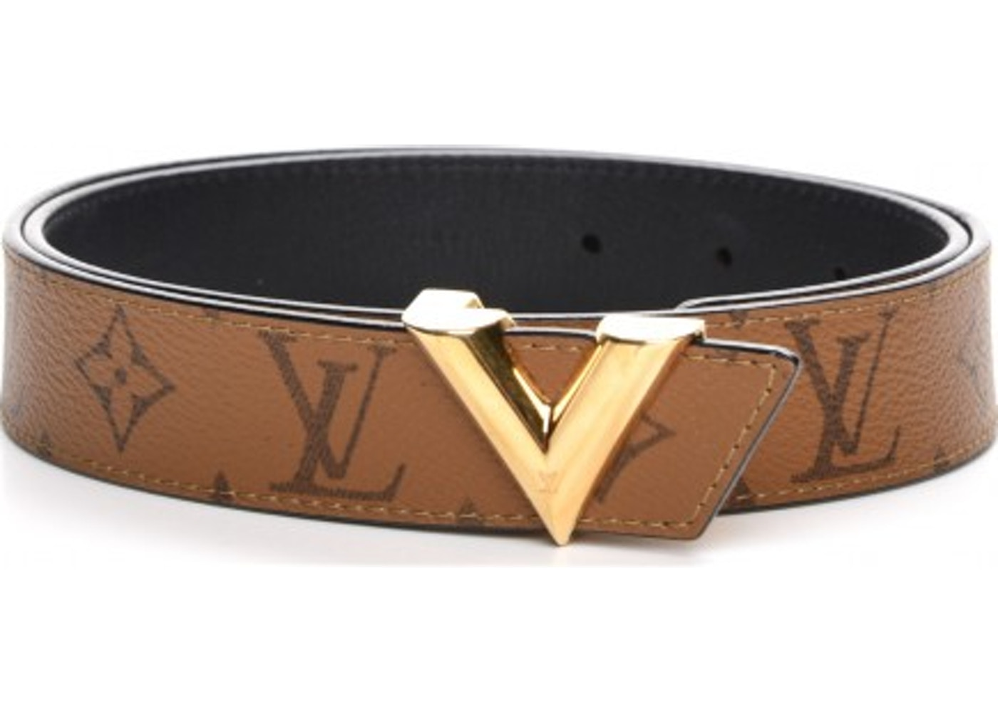 3107d9e9868f Sell. or Ask. View All Bids. Louis Vuitton Belt Essential V Monogram  Reverse 80 32 Light Brown