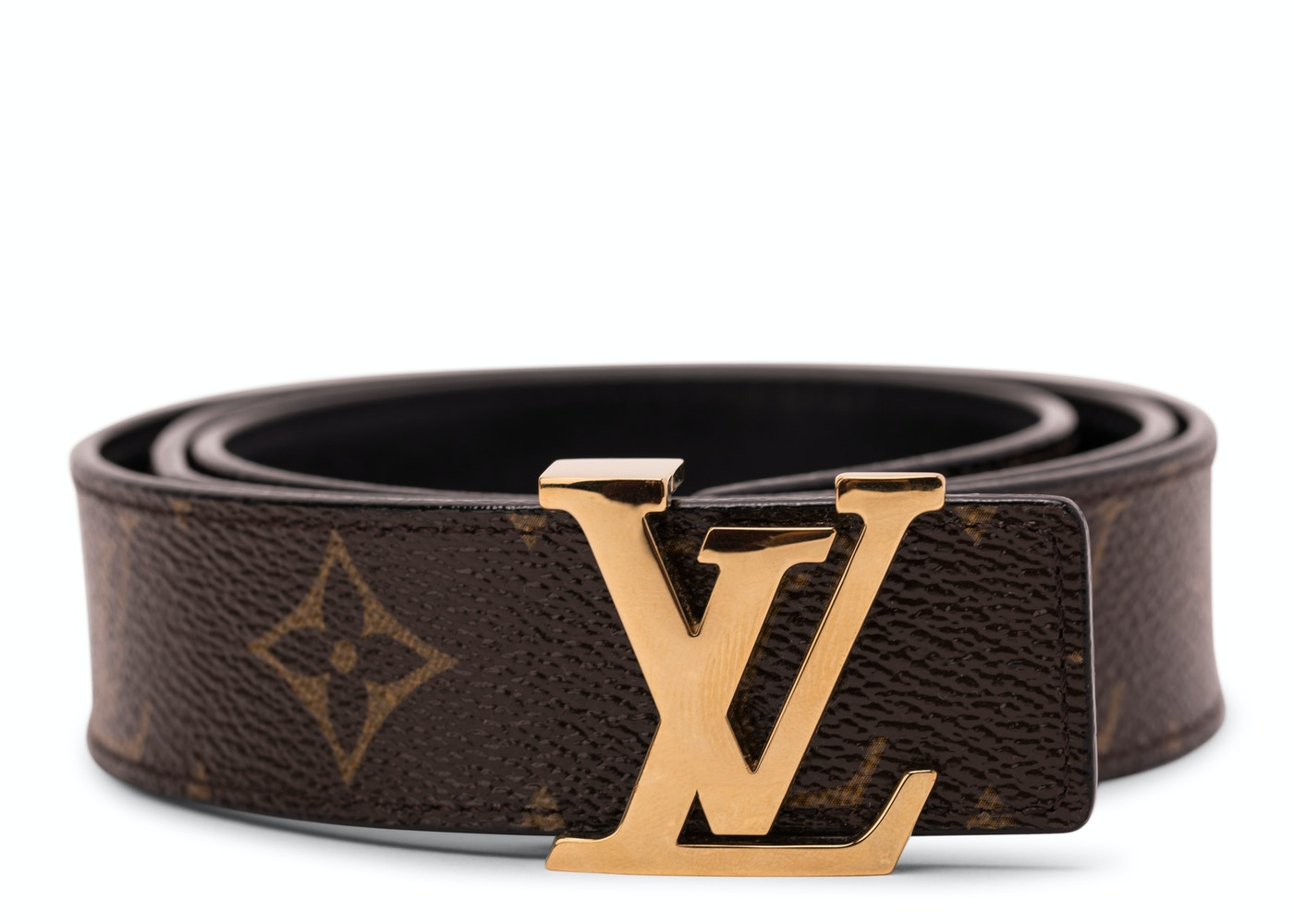 3ba22abddd6c Louis Vuitton Belt Initiales Reversible Monogram Noir Black Brown.  Reversible Monogram Noir Black Brown