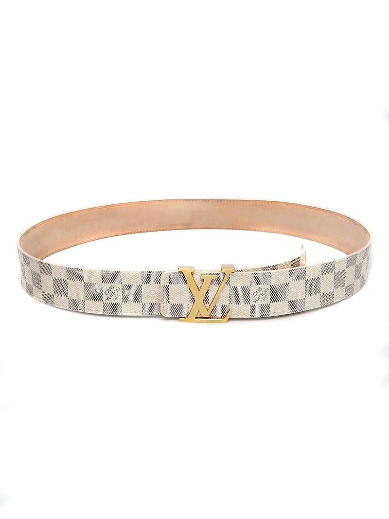 Louis Vuitton Belt LV Initiales Damier Azur 100/40 White/Blue