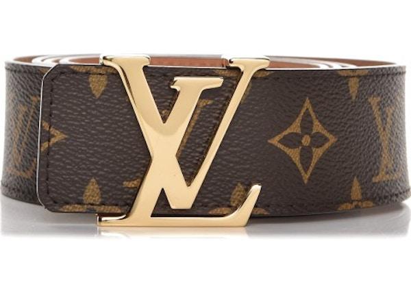 a147b2b664d3 Louis Vuitton Belt Initiales Monogram Brown Brass
