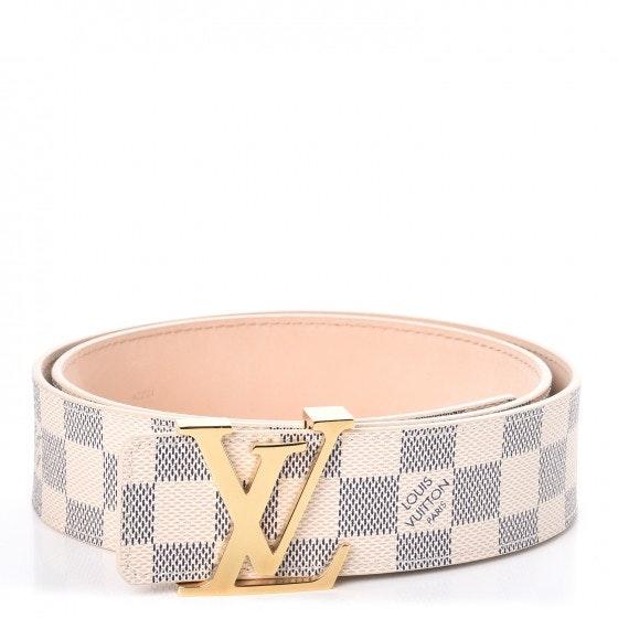 Louis Vuitton Belt Initiales Damier Azur Blue/White