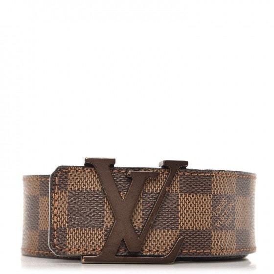 Louis Vuitton Belt Initiales Damier Ebene Canvas/Leather Brown
