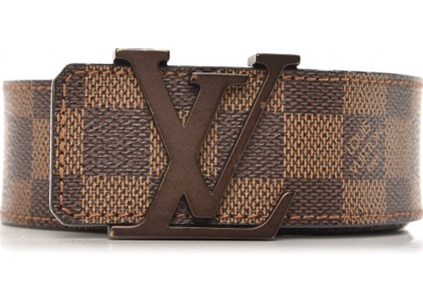 78d4481fef55 Sell. or Ask. Size  85 34. View All Bids. Louis Vuitton Belt Initiales  Damier Ebene Canvas Leather Brown