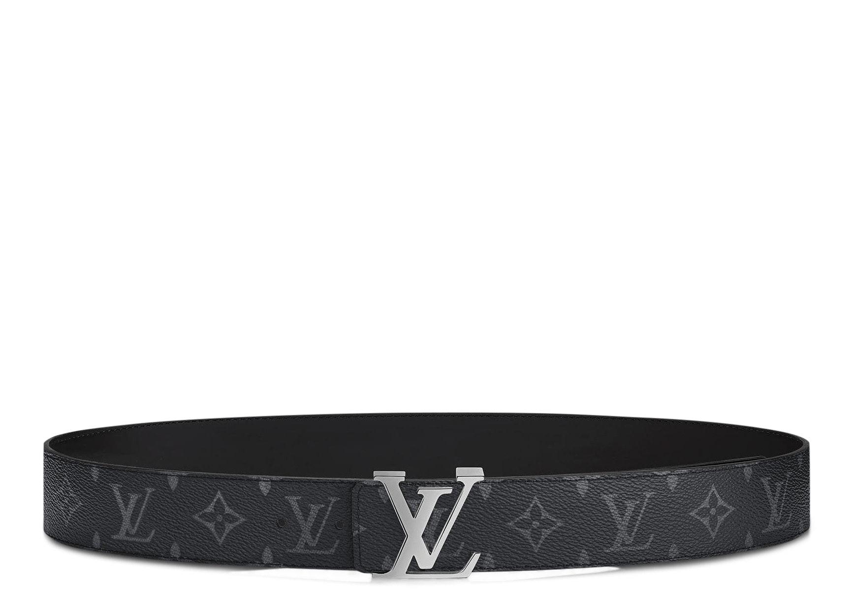 Louis Vuitton Belt LV Initiales Monogram Eclipse Reversible LV Initiales 95/40 Black