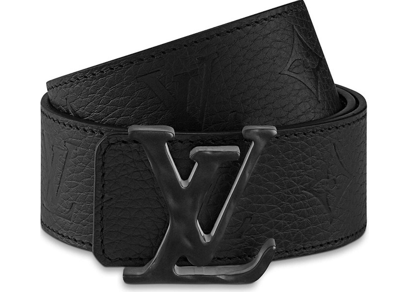 c5aa9fd90 Louis Vuitton Initials Shape Belt Monogram 40MM Absolute Black