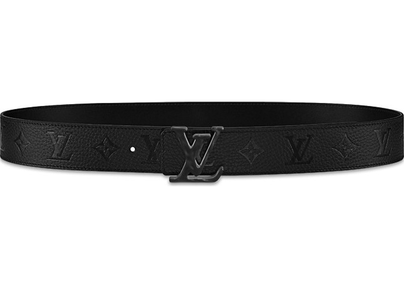 d6f7169c7e4 Louis Vuitton Initials Shape Belt Monogram 40MM Absolute Black. Monogram  40MM Absolute Black