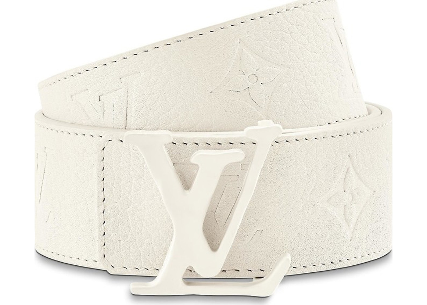 6695f9b4750 Louis Vuitton Initials Shape Belt Monogram 40MM Powder White