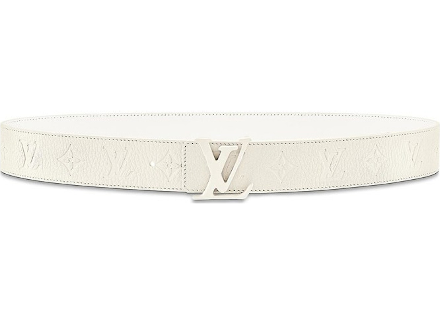 00c6ef538 Louis Vuitton Initials Shape Belt Monogram 40MM Powder White. Monogram 40MM  Powder White