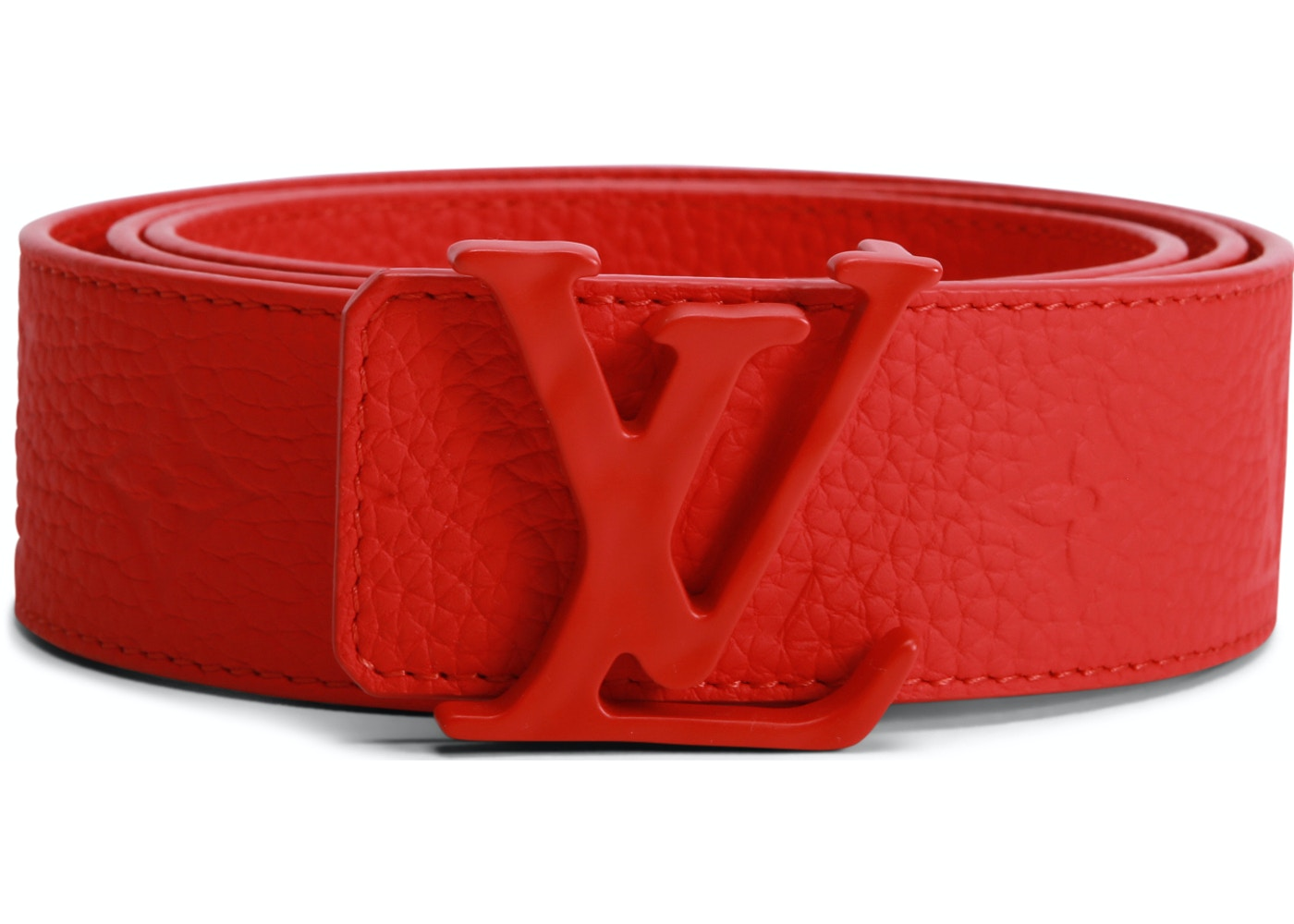 f7aa2602204 Louis Vuitton Initials Shape Belt Monogram 40MM Red. Monogram 40MM Red