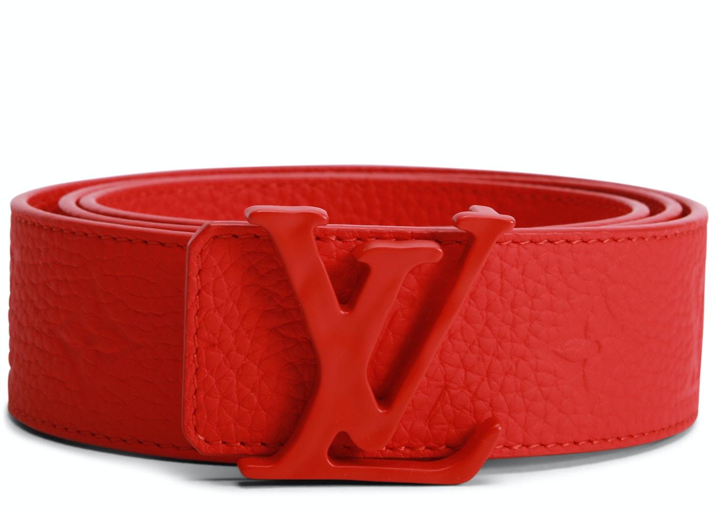 4ad795fb3d Louis Vuitton Initials Shape Belt Monogram 40MM Red