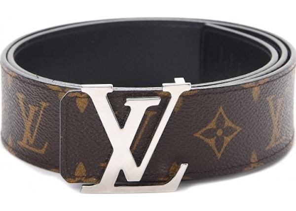 3198adc38fc0 Louis Vuitton Belt LV Initiales Reversible 1.5 Width Monogram Noir Black  Brown