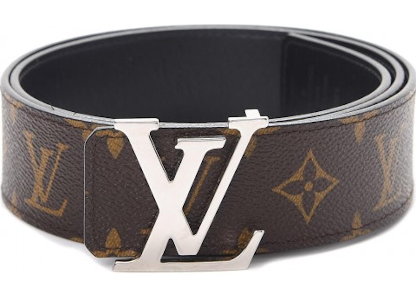 4dbc45c2ec6 Louis Vuitton Belt LV Initiales Reversible 1.5 Width Monogram Noir  Black/Brown