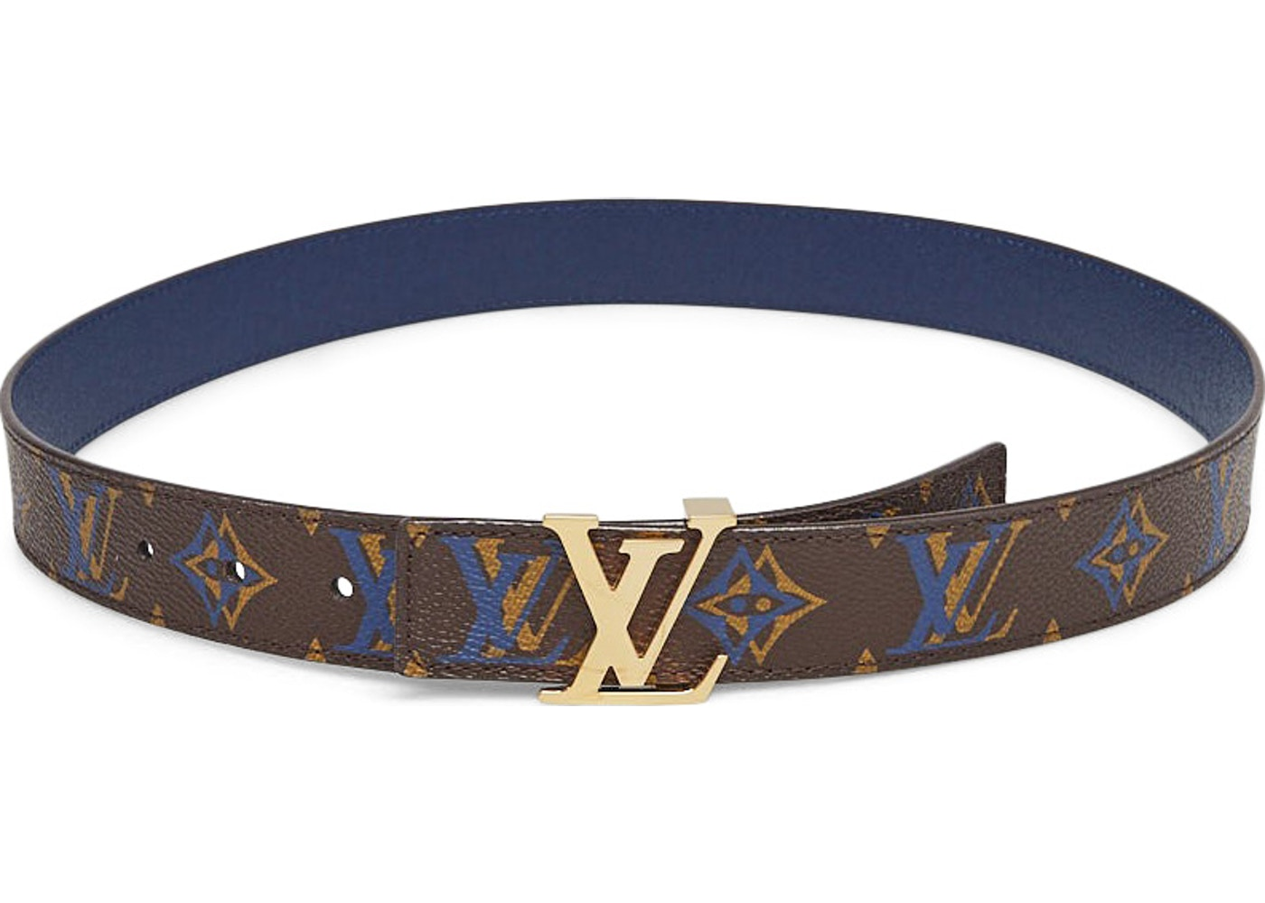 dff434b7f291 Sell. or Ask. Size  90 36. View All Bids. Louis Vuitton Belt LV Initiales  Reversible Monogram Rainbow Brown Blue