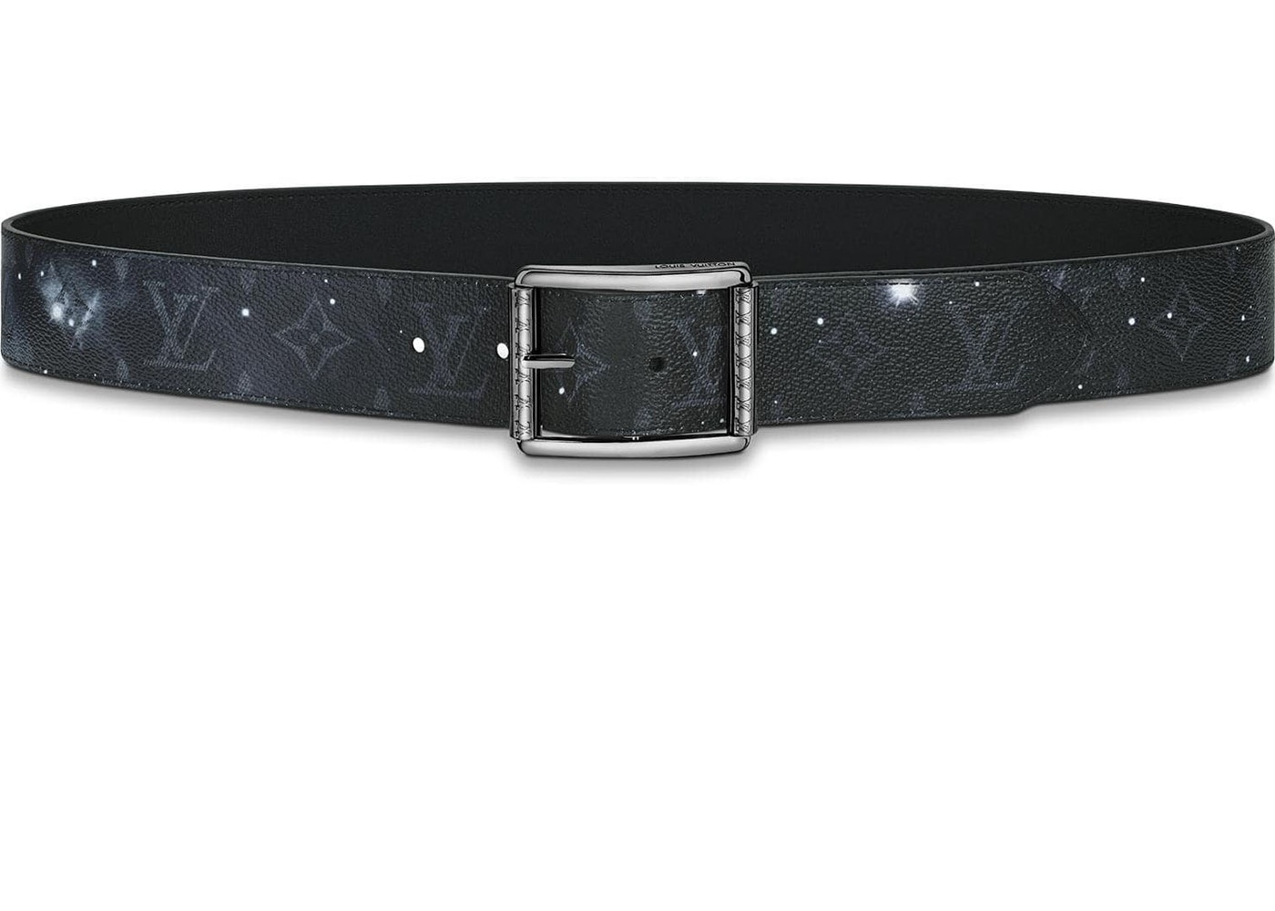 9a216a594029 Louis Vuitton Belt Reverso Reversible Monogram Galaxy 40mm Black  Multicolor. Monogram Galaxy 40mm Black Multicolor